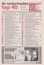 Songcharts / Hitlijst De Nederlandse Top 40 18e jaargang nr.10 13-03-1982