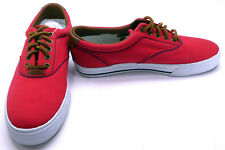 Polo Ralph Lauren Shoes Vaughn Athletic Canvas Red Sneakers Size 9