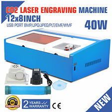 CO2 LASER ENGRAVER ENGRAVING MACHINE 40W CUTTING ARTWORK USB PORT PRINTER
