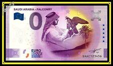 0 euro Souvenir Billet Schein Saudi Arabia Falconry 2021 Arabie Saoudite SAAC