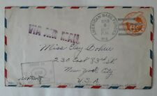 USA Northern Ireland Belfast military airmail censor cover 1942 APO 813 ww2 wwII