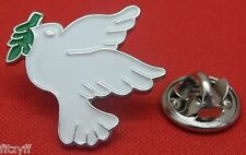 White Dove of Peace Lapel Hat Tie Pin Badge Brooch
