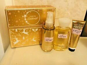 Bath and Body Works IN THE STARS Travel Mini Mist Cream Wash 3 PCS GIFT SET NEW