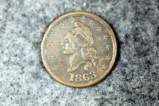 Estate Find 1863 Civil War Token Iou 1 Cent #D27181