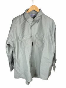New Vintage Red Kap Gray Size 18 1/2 34/35 Long Sleeve Button Up