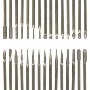 30 Pcs Nail Drill Bit Set Cuticle Burr Manicure Polishing Rotary Electric File