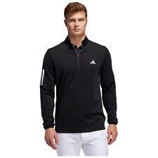 adidas Mens 3-Stripes Mid Layer Breathable Half Zip Golf Top - Small (No Tags)