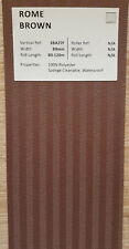 "89mm (3.5"") VERTICAL BLIND FABRIC. FULL ROLL 100M. ROME BROWN"