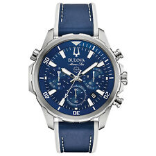 Bulova Marine Star Men's Quartz Chronograph Blue Dial 43 mm Watch 96B287