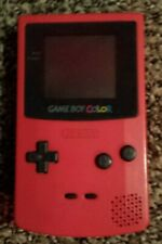 Gameboy Color Berry Red Works Tested for Parts or Restore no battery cover