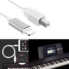 Lightning to Type-B Keyboard Converter USB 2.0 Cable for iPhone iPad MIDI Organ
