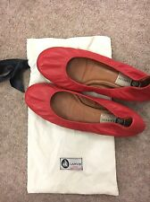 Lanvin Red Ballet Flats - Size 38 / UK 5.5