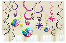 Boogie Disco Fever 70s Swirl Decorations Birthday Party Favor Supplies ~12ct