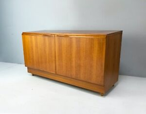 1970's English mid century compact low sideboard
