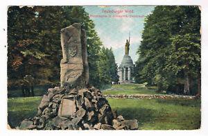 AK. Teutoburger Wald, Hermanns- u. Bismarck- Denkmal, DETMOLD 18.7.09