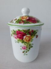 """ROYAL ALBERT """"OLD COUNTRY ROSES"""" PRESERVE POT WITH SEAL ON LID"""
