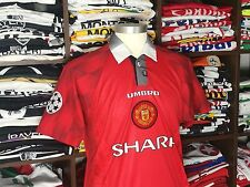 MANCHESTER UNITED home 1996-97 shirt - CANTONA # 7 - France-Leeds-Umbro-Jersey