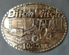 VINTAGE 70s (?) DITCH WITCH BELT BUCKLE 1025SK CONSTRUCTION SOLID BRASS NIP