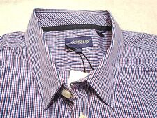 Jeremy Argyle of NYC Long Sleeve Navy & Purple Check Sport Shirt NWT XL $148
