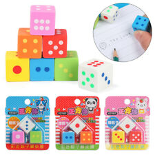 School Office Supplies Correction Tools Rubber Eraser Dice Toy Pencil Erasers