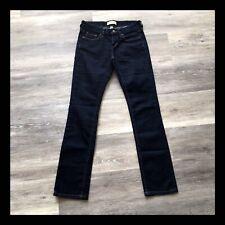 Banana Republic Jeans Straight Leg Stretch Dark Wash Denim Petite Womens Sz 25/1