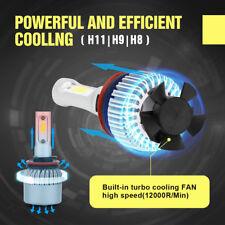 T1 H8 H9 H11 Turbo LED Headlight Conversion Kit 72w 6000k White Canbus Lights