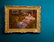 le canapé .. huile sur panneaux . mouvement nabi . Vuillard . Bonnard . Hessel .
