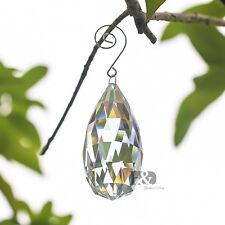 1 Large 90mm Clear Crystal Chandelier Prisms Drops Light Pendulum Bottom Pendant