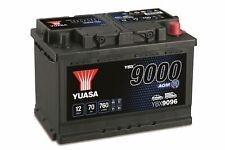 Yuasa YBX9096 AGM Encendido Apagado Plus Batería de Coche, 12V/70Ah/760A