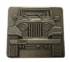 Vtg Jeep Belt Buckle Convertible Wrangler Cherokee Lover Parts Gear Gift Idea