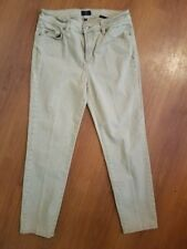 NYDJ Not Your Daughters Jeans size 10 Tan Ankle Stretch Lift Tuck