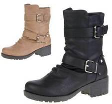 Damen Stiefeletten Schuhe luxus Used Optik Echtleder Boots 4753 Braun 36