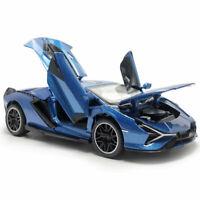 1:32 2019 Lamborghini Sian FKP 37 Model Car Diecast Toy Vehicle Blue Kids Gift