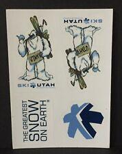 Ski Utah yeti Greatest Snow on Earth stickers New sheet of 4