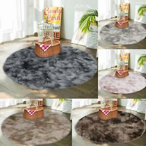 Circle Round Shaggy Rug Living room Bedroom Carpet Floor Fluffy Mat Anti-Skid