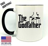 The Godfather, Birthday, Christmas Gift, Black Mug 11 oz, Coffee/Tea