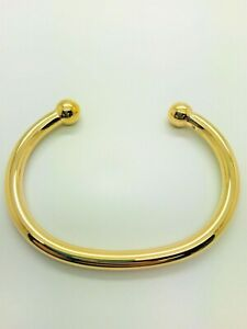 9ct Yellow Solid Gold Heavy Torque Bangle – 6.0mm **** CHEAPEST ON EBAY ****