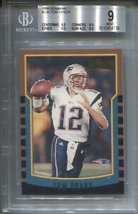 2000 Tom Brady Bowman ROOKIE Rc #236 Patriots BGS 9 MINT (9.5, 9.5, 9.5, 8.5)