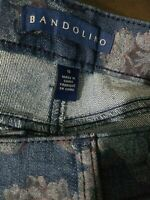 "Bandolino Jeans Womens size 16 ""Mandie"" Floral Pattern Box#32"