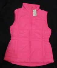 Aeropostale Kids PS Bright Pink Fleece Lined Puffer Vest Jacket Girls Size 10