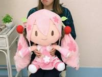 Sakura Miku Big Jumbo Fluffy Plush 50cm Doll Stuffed toy Hatsune SEGA JAPAN