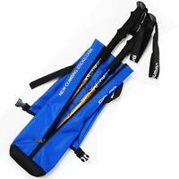 Oxford Hiking Stick Carry Bag Waterproof Trekking Walking Pole Bag-Navy Blue