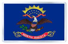 NORTH DAKOTA USA FLAG FRIDGE MAGNET SOUVENIR IMAN NEVERA