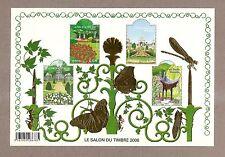 2008 Bloc n° 120 Salon du timbre 2008 doré  NEUF**LUXE