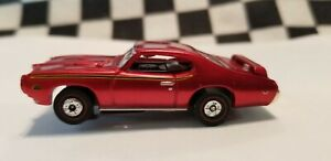 69 GTO Judge Candy Red HO slot car Aurora Chassis TJet Red Wall Tires