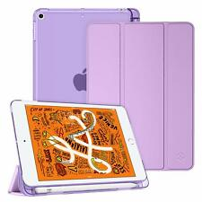 Slim Case for Apple iPad Frosted Back Cover Lightweight Stand  with Pen Holder
