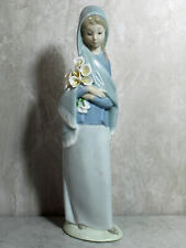 Lladro 4650 Girl with Calla Lillies As Is