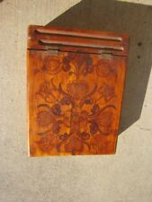 Antique Folk Art Trinket/ Letter Wooden Box Penn. Dutch? Sweedish?