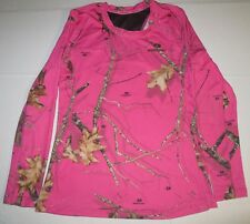 Women Mossy Oak Hunting Long Sleeve Shirt Medium Pink Real Tree Camouflage Camo