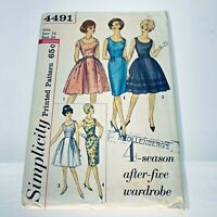 Simplicity Vintage Evening Cocktail Dress Sewing Pattern 4491 Sz 14 Miss Bust 34